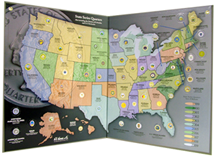 State Quarter Map HE Harris Coin Collecting Maps - Us map for collecting quarters