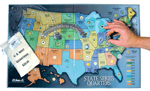 State Quarter Map HE Harris State Quarter Map, 8HRS2776T, state quarter, map, harris state quarter