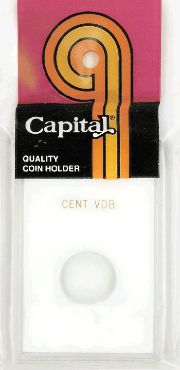 1909S VDB Cent Capital Plastics Coin Holder Caps White 2x3 1909S VDB Cent Capital Plastics Coin Holder Caps White, Capital, Caps
