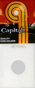3 Cent Nickel Capital Plastics Coin Holder Caps White 2x3 3 Cent Nickel Capital Plastics Coin Holder Caps White, Capital, Caps