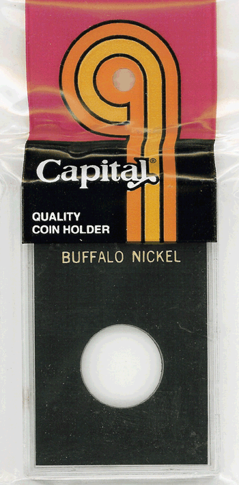 Buffalo Nickel Capital Plastics Coin Holder Caps Black 2x3 Buffalo Nickel Capital Plastics Coin Holder Caps Black, Capital, Caps