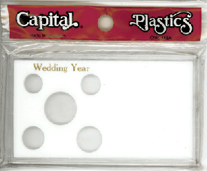 Wedding Year Capital Plastics Coin Holder White Meteor Wedding Year Capital Plastics Coin Holder White, Capital, MA32WY