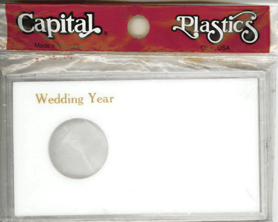 Wedding Year ASE Capital Plastics Coin Holder White Meteor Wedding Year ASE Capital Plastics Coin Holder White, Capital, MA32XWY