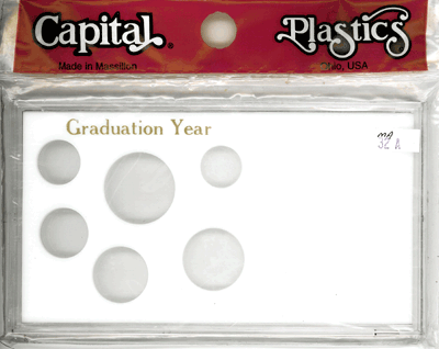 Graduation Year 6 Coin Capital Plastics Coin Holder White Meteor Graduation Year 6 Coin Capital Plastics Coin Holder White, Capital, MA32AGY