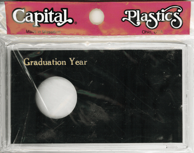 Graduation Year ASE Capital Plastics Coin Holder Black Meteor Graduation Year ASE Capital Plastics Coin Holder Black, Capital, MA32XGY