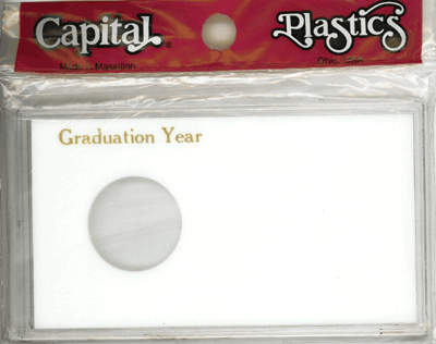 Graduation Year ASE Capital Plastics Coin Holder White Meteor Graduation Year ASE Capital Plastics Coin Holder White, Capital, MAXY