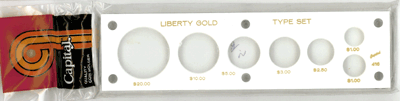 Liberty Gold Type 7 Coin Capital Plastics Coin Holder White 2x7.5 Liberty Gold Type 7 Coin Capital Plastics Coin Holder White, Capital, 416