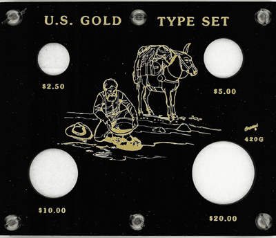 U.S. Gold Type Set  5x6 U.S. Gold Type Set , Capital, 420G