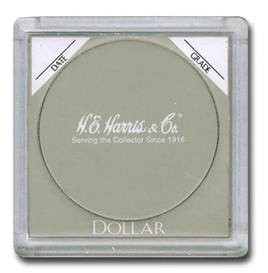 HE Harris Large Dollar 2x2 Snaplock Coin Holder 25 Pcs he harris large dollar 2x2 snaplocks