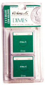 Dime 2x2 Snaplock Coin Holder HE Harris Retail Pack 2x2 Dime 2x2 Snaplock Coin Holder HE Harris Retail Pack, HE Harris & Co, 90921156