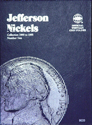 Whitman Jefferson Nickel Number 2 Coin Folder 6x7.75 Whitman Jefferson Nickel Number 2 Coin Folder, Whitman, 9039