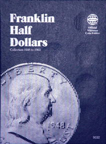Whitman Franklin Half Dollar Coin Folder 6x7.75 Whitman Franklin Half Dollar Coin Folder, Whitman, 9032