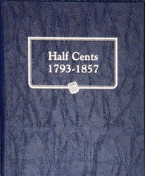 Half Cents Whitman Coin Album Half Cents Whitman Coin Album, Whitman, 9109