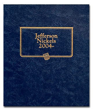 Jefferson Nickels 2004 - 2007 whitman coin album, jefferson nickels coin album