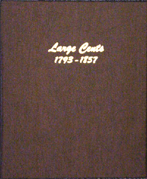 "Large Cents Dansco Coin Album  1 1/8""   - 22728"