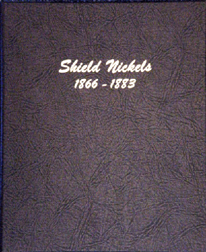 "Shield Nickels Dansco Coin Album  5/8"" Shield Nickels Dansco Coin Album , Dansco, 6110"
