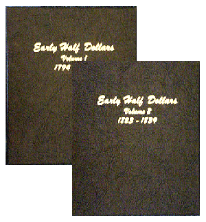 Early Half Dollars Volume 1 & 2 - Dansco Coin Album 6151 Early Half Dollars Volume 1 and 2 Dansco Coin Album , Dansco, 6151
