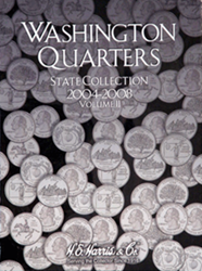 State Quarter 2004-2008 HE Harris Coin Folder 6x7.75 State Quarter 2004-2008 HE Harris Coin Folder, HE Harris & Co, 2581