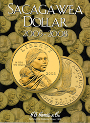 Sacagawea Dollar 2005-2008 HE Harris Coin Folder 6x7.75 Sacagawea Dollar 2005-2008 HE Harris Coin Folder, HE Harris & Co, 2943