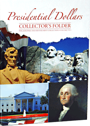Presidential Dollar Collectors Folder Volume II 7x9.5 Presidential Dollar Collectors Folder Volume II, HE Harris & Co, 0794822800