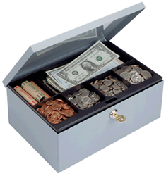 Cash Box with Security Lock 11.25x7.5x4.75 Cash Box with Security Lock, MMF, 221618201
