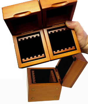 GuardHouse 5 Slab Wood Coin Display Box GuardHouse Wood Coin Display Box - 5 Slab, Guardhouse, GH-SLAB-W5