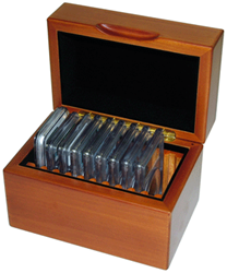 GuardHouse Wood Certified Coin Display Box 10 Slab GuardHouse, Wood, Certified coin, Coin Display Box, 10 Slab, GH-SLAB-W10