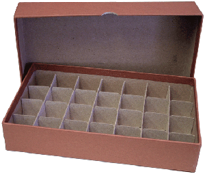 Half Dollar Tube Storage Box Guardhouse Brown 10.5x6x2 Half Dollar Tube Storage Box Guardhouse Brown, Guardhouse, GH-1/2$Tube