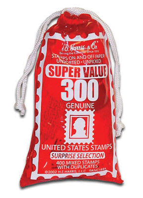 Bag of United States Stamps