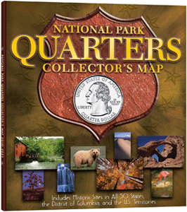 Statehood Quarter Maps - Us map for collecting quarters