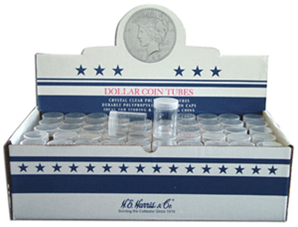 Dollar Round Coin Tube HE Harris 100 Pack Dollar - 5808