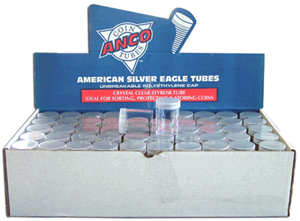 Silver Eagle Round Coin Tubes HE Harris 100 Pack - 5832