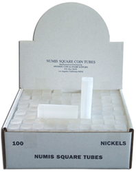 Nickel Square Coin Tube Numis 100 Pack Nickel Nickel Square Coin Tube Numis 100 Pack, Numis,
