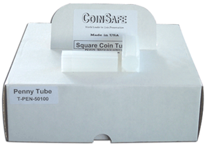 Cent Square Coin Tubes by CoinSafe