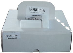 Nickel Square Coin Tube CoinSafe 100 Pack Nickel Nickel Square Coin Tube CoinSafe 100 Pack, CoinSafe, T-NIK-40-100 pac