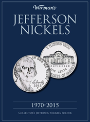Warmans Jefferson Nickels Coin Folder 1970 - 2015