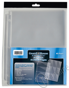 Guardhouse Two-Pocket Polypropylene Pages 10/Pack