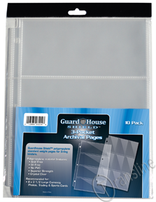 Guardhouse Three-Pocket Polypropylene Pages 10 Pack
