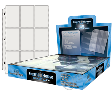 Guardhouse Nine-Pocket Polypropylene Pages 100 Count Box
