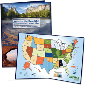"Littleton ""America the Beautiful"" National Park Quarter Map"