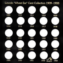 Lincoln Wheat Ear Cents 1909 Capital Plastics Coin Holder Black Galaxy Lincoln Wheat Ear Cents 1909 Capital Plastics Coin Holder Black, Capital, GX451v