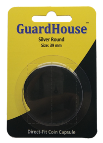1 oz Silver Round Direct Fit Guardhouse Capsule - Retail Card