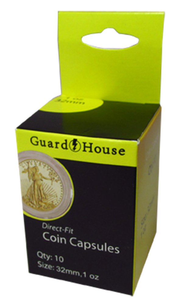 Guardhouse Coin Capsules for US Gold Eagles gold eagle coin capsules, gold eagle coin holders, ounce oz gold eagle capsules