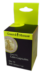 Guardhouse Coin Capsules for US Gold Eagles Guardhouse. Coin Capsules, US Gold Eagles