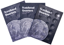 Whitman Statehood Quarters Folders 1999 to 2009 P&D whitman, statehood, washington, quarters, coin, folders, 9697, 8111, 8112