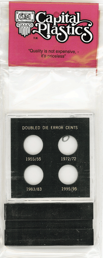Double Die Cents Capital Plastics Holder Black VP Case Double Die Cents Capital Plastics Holder Black, Capital, VP418A