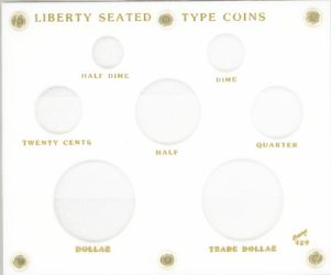 Liberty Seated Type Capital Plastics Coin Holder White 5x6 Liberty Seated Type Capital Plastics Coin Holder White, Capital, 429
