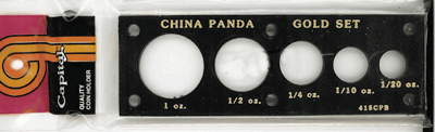 Chinese Panda Gold Set  2x6 Chinese Panda Gold Set , Capital, 415CPB
