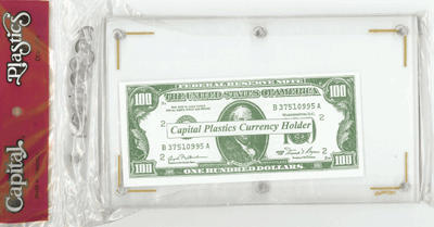 Currency Holder 4 1/2 x 7 1/2 Currency Holder, Capital, CH-1