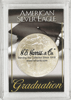 American Silver Eagle Graduation Snaplock Coin Holder